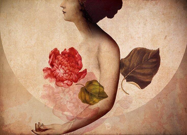 Femme-avec-une-fleur-sur-le-coeur