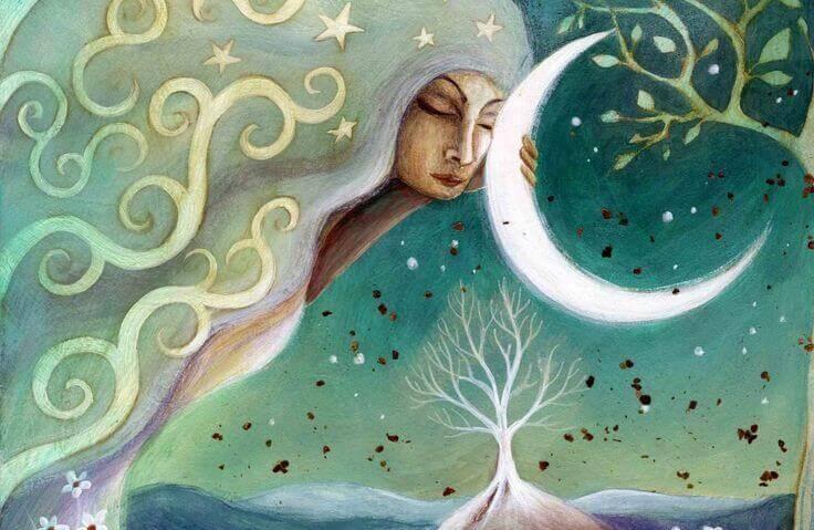 Mujer-con-los-ojos-cerrados-agarrando-luna