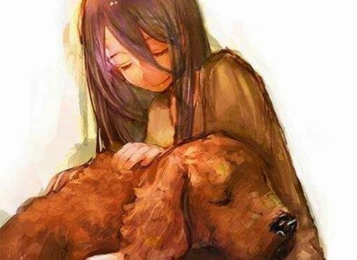 chien-avec-une-fille