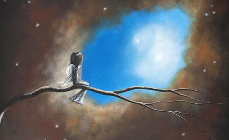 J'aimerais tant qu'il existe une échelle jusqu'au ciel pour te voir chaque jour
