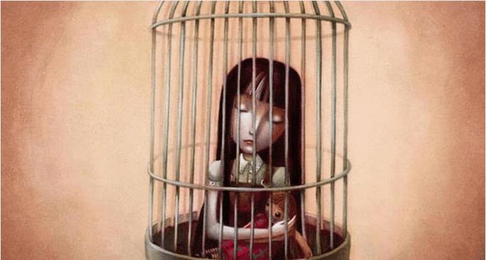 petite-fille-dans-une-cage