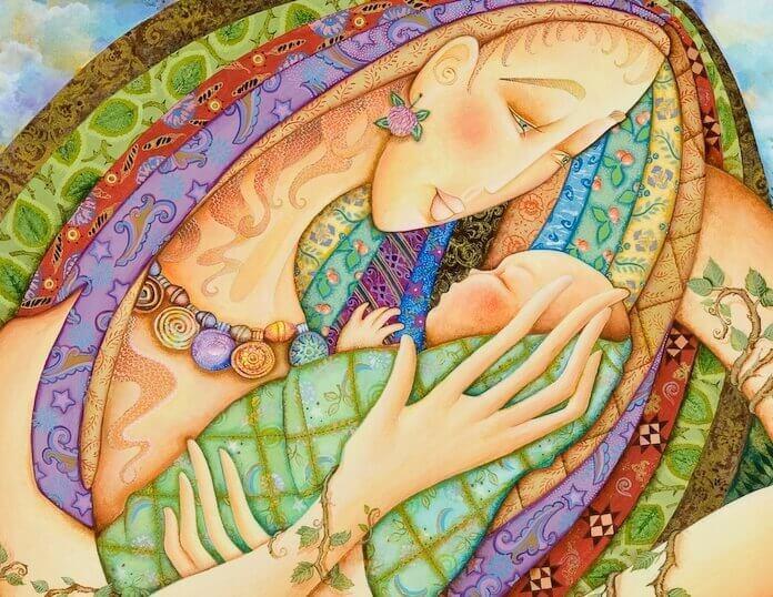 Femme-avec-un-bebe-dans-les-bras