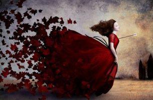 Femme-fleche-dans-le-coeur