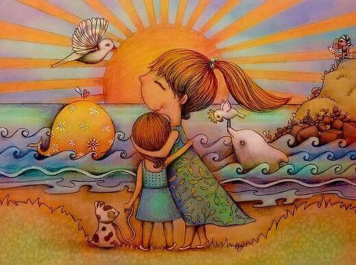 Donner de l'amour à un enfant, c'est éloigner ses peurs