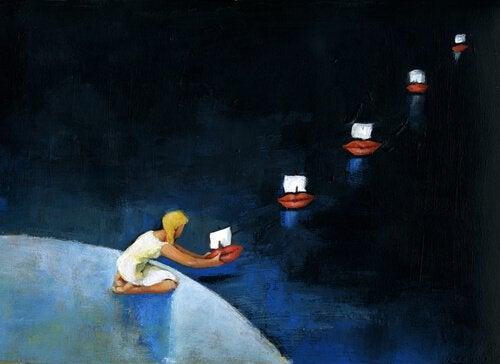 enfant bateaux