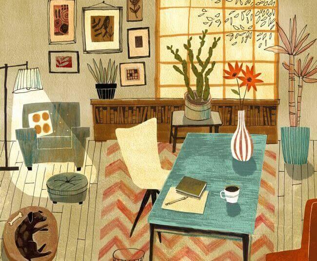 illustration -dans-une-salle-d'attente