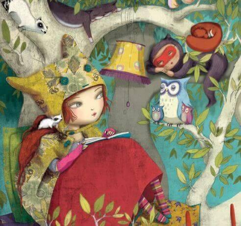 niña-leyendo-rodeada-de-animales