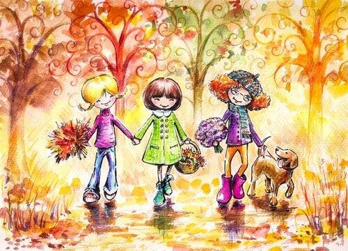 tres-niñas-amigas-paseando-por-el-parque-con-un-perro1