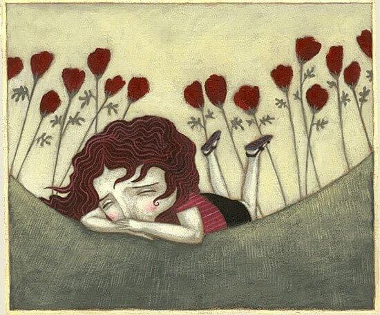 Fille-triste-allongee