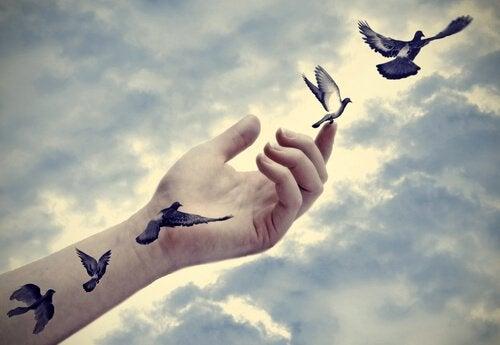 Main-tatouee-oiseaux