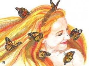 chica-mariposas