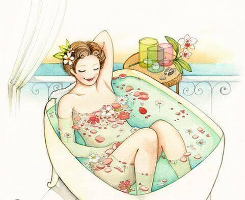mujer-en-la-bañera