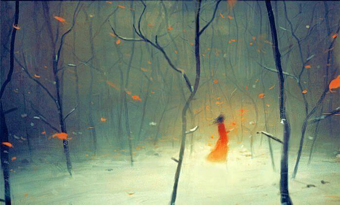niña-en-bosque