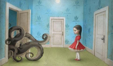 petite fille pieuvre