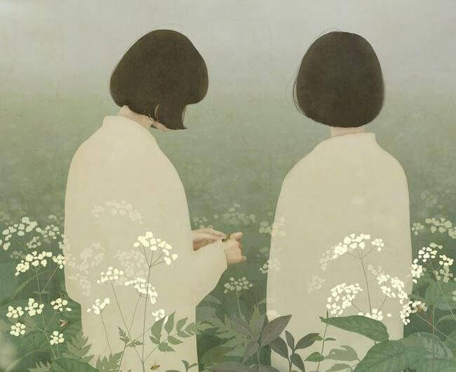 Amies-dans-un-champ-de-bambous