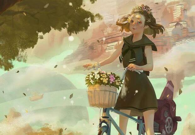 Enfant-velo-panier-fleurs-1