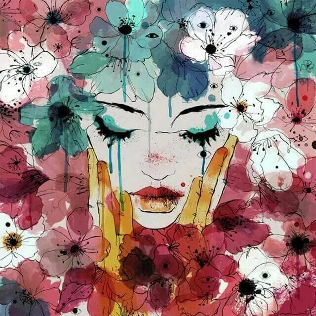 Les larmes ne sont rien de plus que nos blessures qui s'évaporent