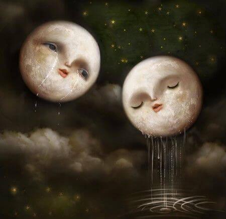 Lunes-pleurant-exprimant-le-vide-de-l'ame