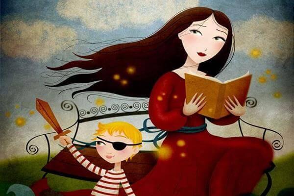 Mere-avec-enfant-lisant-un-livre