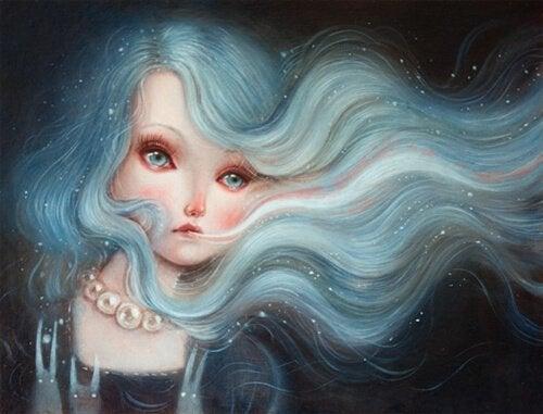Mujer-con-el-pelo-azul