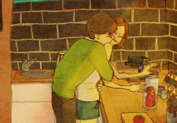 Un jour, quelqu'un vous serrera si fort dans ses bras... WOW ! Magnifique ! Abrazo-cocina-1