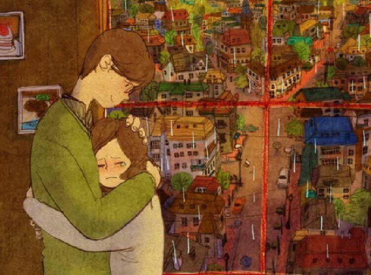 Un jour, quelqu'un vous serrera si fort dans ses bras... WOW ! Magnifique ! Abrazo-partes-rotas