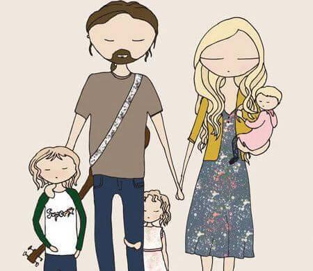 familia-con-hijos