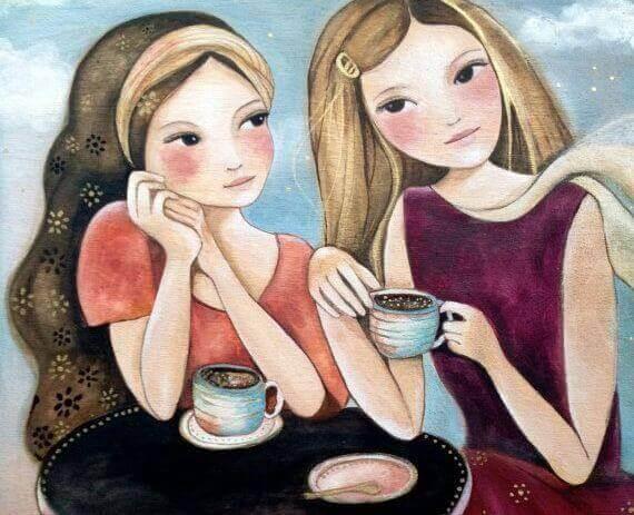 Amies-prenant-le-cafe