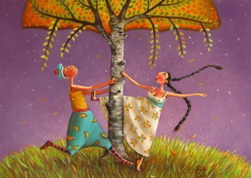 Couple-sous-l'arbre
