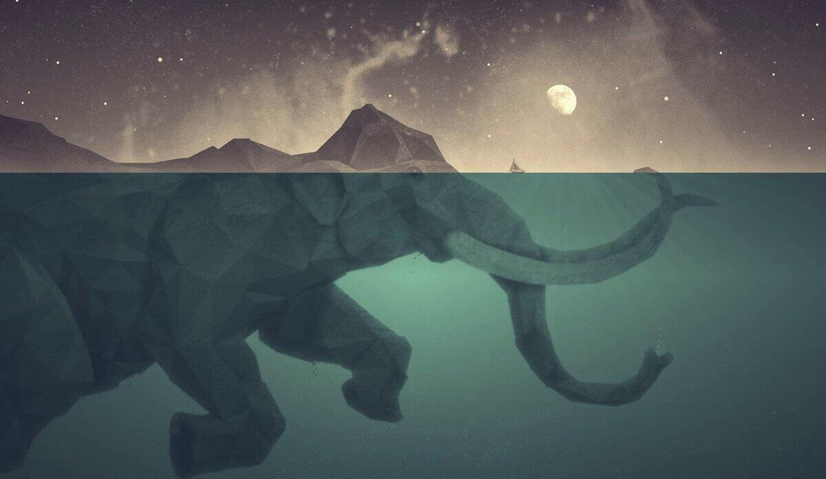 Elephant-sous-l'eau