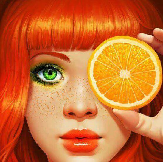 Femme-orange-ame-soeur