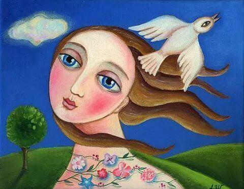 Femme-yeux-bleus