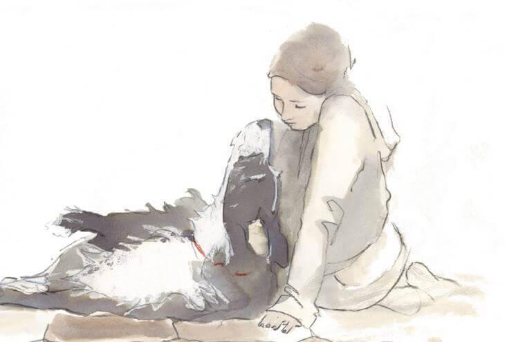 Fille-et-chien
