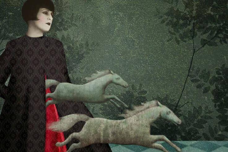 femme avec des chevaux