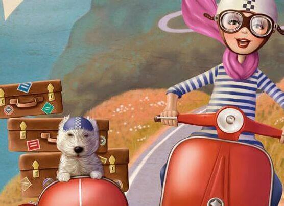 femme sur sa motot