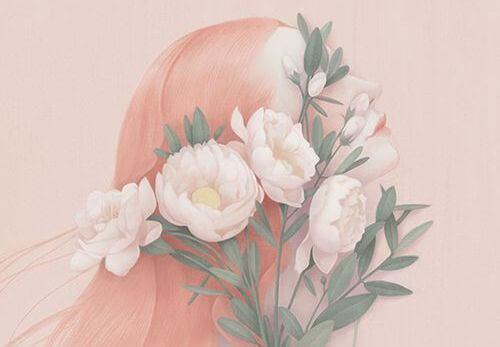 mujer-envuelta-en-flores-rosadas