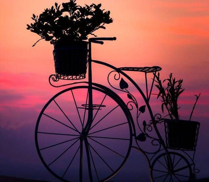 velo coucher de soleil