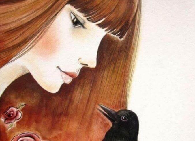 Femme-corbeau