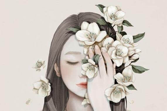 Femme-et-fleurs
