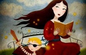 Femme-lisant-une-histoire-a-un-enfant