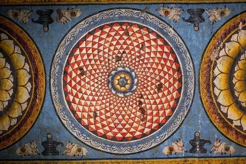 Mandala-sur-le-mur-d'un-temple