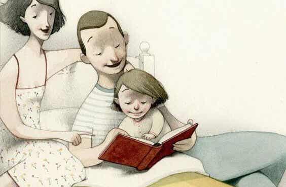 Couchez vos enfants avec une histoire, pas avec la télévision