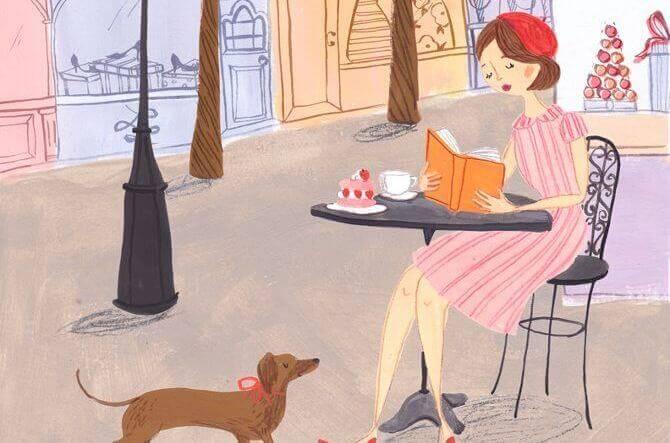 chica-en-una-terraza-tomando-café