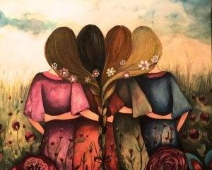 cuatro-amigas-abrazandose