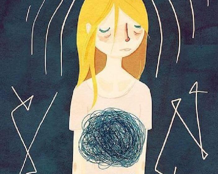 femme souffrant d'anxiete