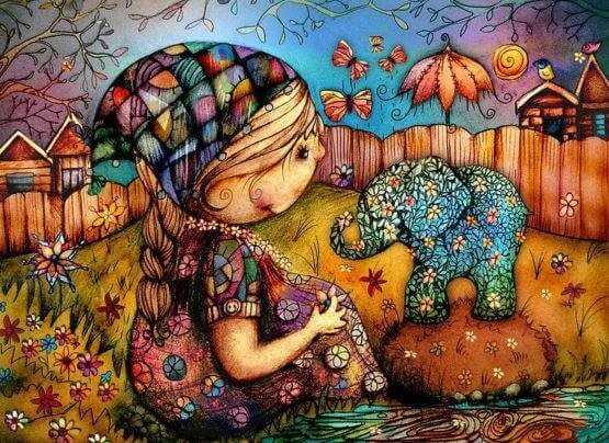 niña-con-elefante