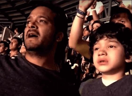 Voici les larmes d'émotion d'un enfant autiste à un concert de Coldplay