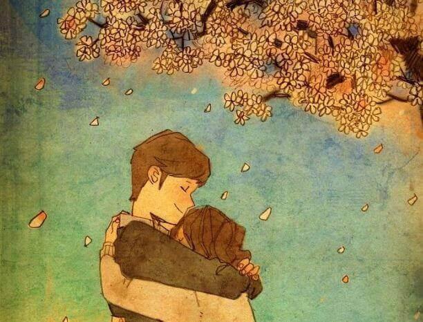 Couple-s-enlacant-pres-d-un-arbre