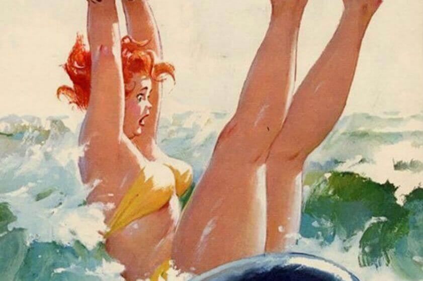 Femme-dans-l'eau