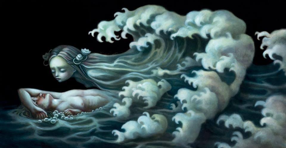 Homme-triste-sur-le-sol-femme-mer